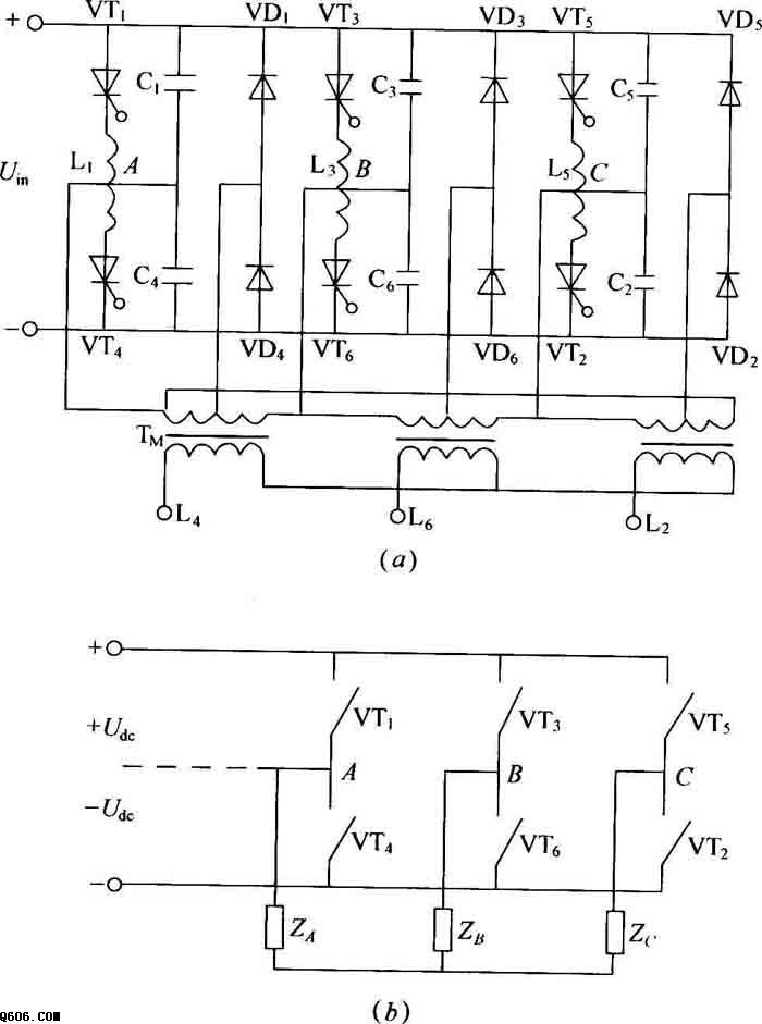 三相桥式逆变器电路