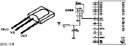 sm0038与单片机接口电路图
