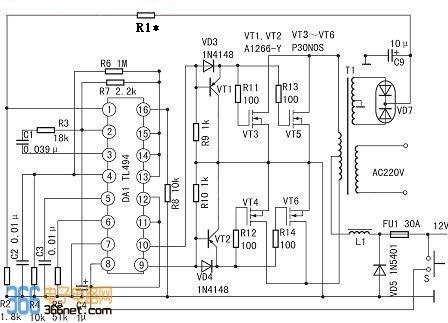大功率稳压逆变器电路
