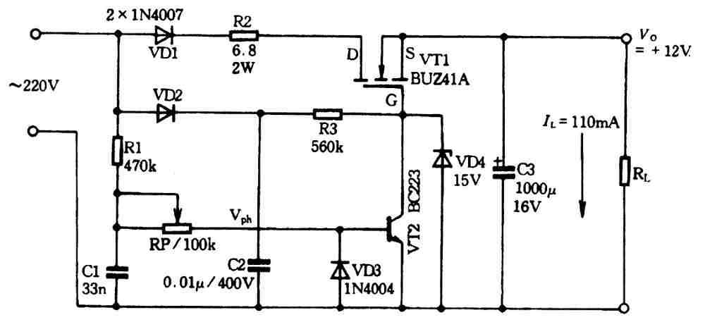 一种低成本无变压器开关电源
