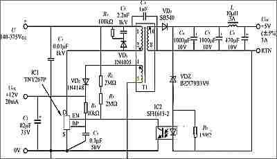 tny264开关电源的应用电子电路图