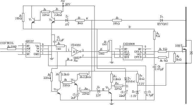 逆变器,变频器等功率电路中