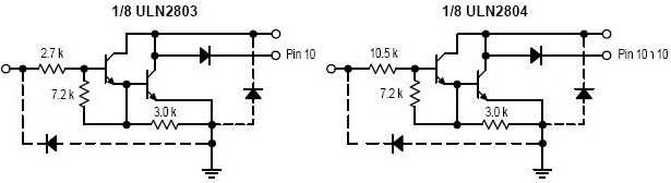 uln2803内部电路图