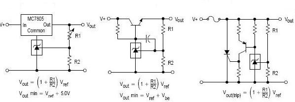 图25 控制三端固定稳压输出电路           图26 串联稳压调节电路
