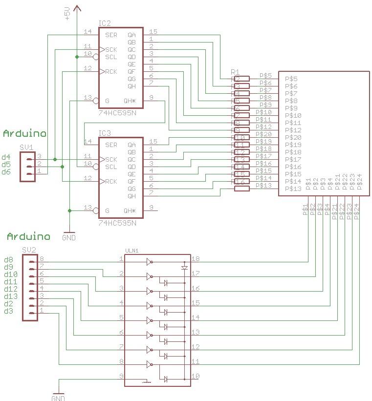 机构成的键盘显示电路