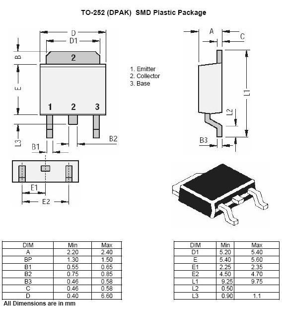 to-252 dpak贴片元件封装形式图片