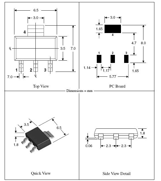 >> sot-223|to-261aa smd封装尺寸图