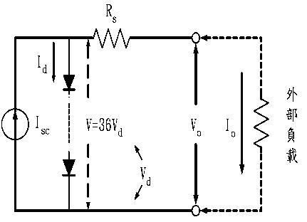 太阳能电池的(sp75)模组的等效电路