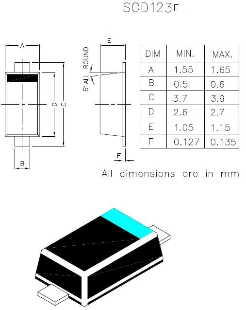 sod-123f封装尺寸图