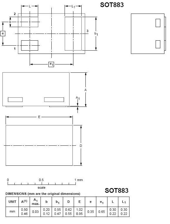 sot883封装尺寸图