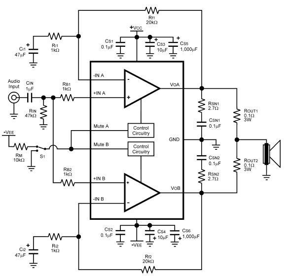 lm4780功放电路图纸原理图