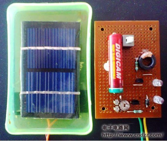 >> 太阳能led道路标记(路钉)电路图